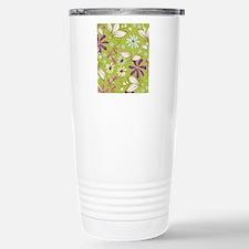 FlowerBotanical_Green_L Travel Mug