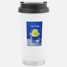 Tennis ball floating in Stainless Steel Travel Mug