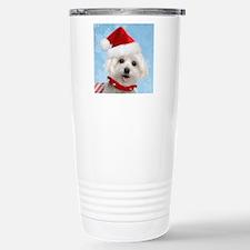 Maltese Puppy Christmas Travel Mug