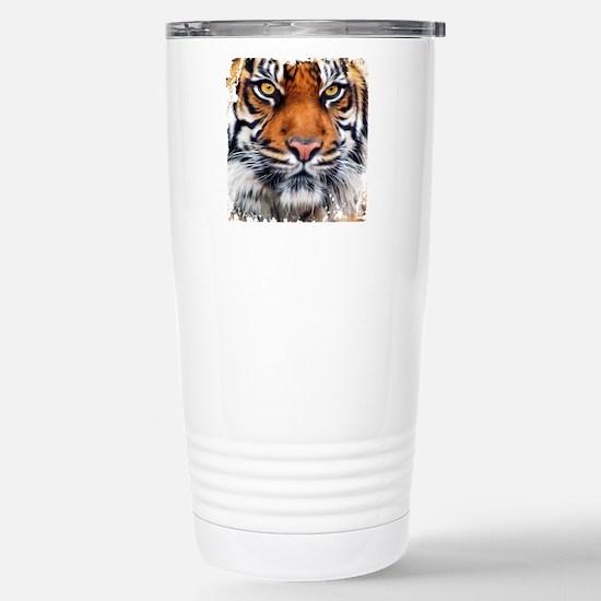 Male Siberian Tiger Stainless Steel Travel Mug