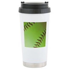 Optic yellow fastpitch  Travel Coffee Mug
