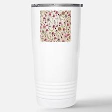 Whimsical pink flowers  Travel Mug