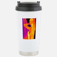 Woman showering, thermo Stainless Steel Travel Mug