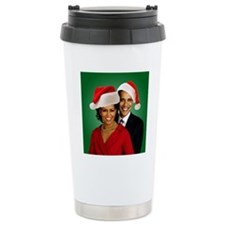 Obama Christmas Thermos Mug