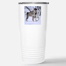 Wolves Playing Travel Mug