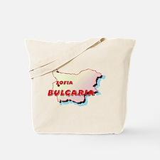Bulgaria Map  Tote Bag