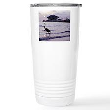 Heron at the Pier Travel Mug