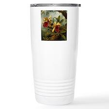 Botanical Orchid Painti Travel Mug