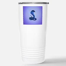 A Big Blue Snake Travel Mug