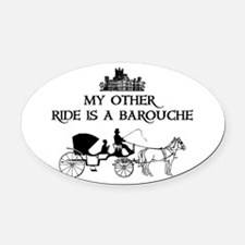 Cute Pride prejudice Oval Car Magnet