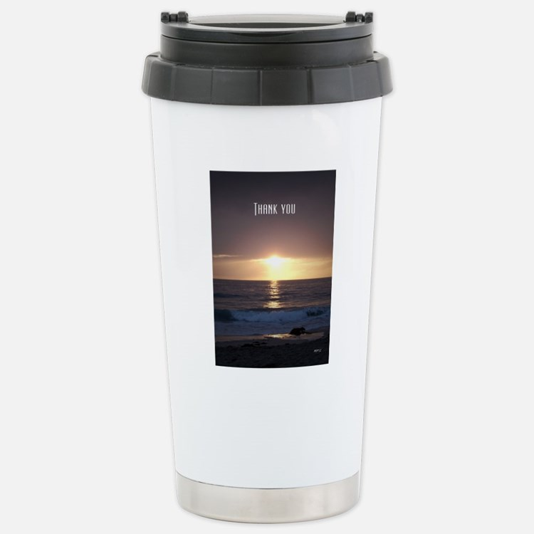 Thank You Stainless Steel Travel Mug
