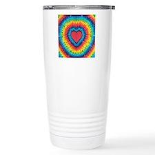 Colorful tie dye heart Travel Mug