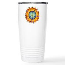 Peace Flower Travel Coffee Mug