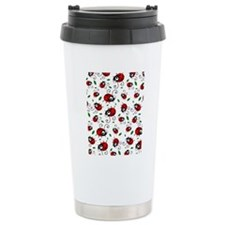 Cute Ladybug pattern Travel Mug