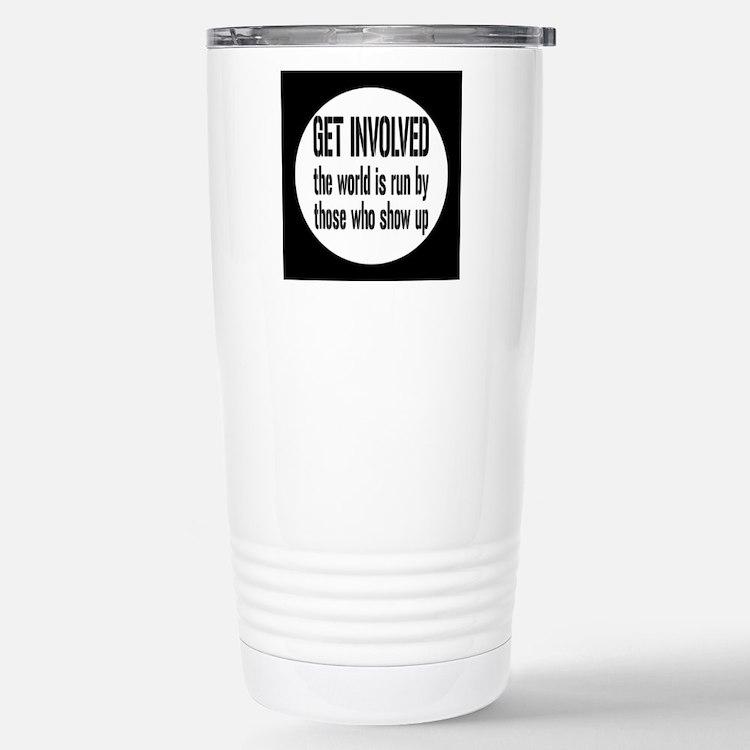involvedbutton Stainless Steel Travel Mug