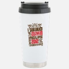 I Survived the Mayan Ap Stainless Steel Travel Mug