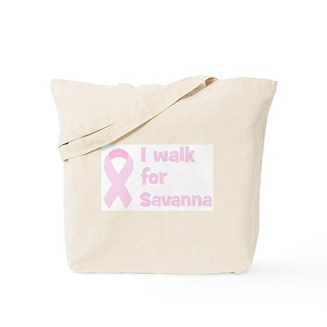 Walk for Savanna Tote Bag