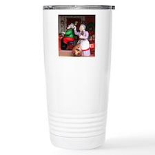 Santa on Piana and Mrs. Travel Coffee Mug