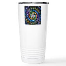 Fractal Spiral Beads Sh Travel Coffee Mug
