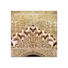 "Alhambra- Granada. Detail o Square Sticker 3"" x 3"""