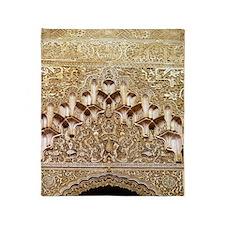 Alhambra- Granada. Detail of carving Throw Blanket