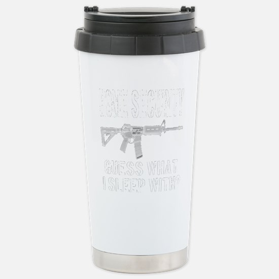 HOME SECURITY Guess Wha Stainless Steel Travel Mug