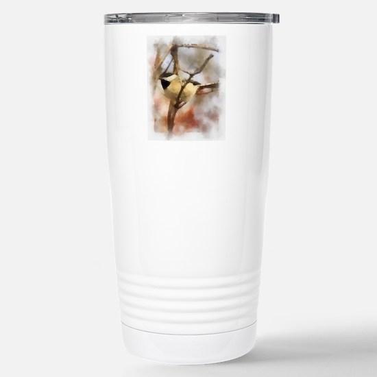 Chickadee Watercolor Stainless Steel Travel Mug