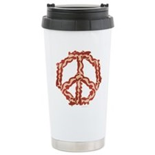 Peace Sign Bacon 2 Travel Mug