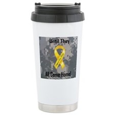Support Our Troops wide Travel Mug