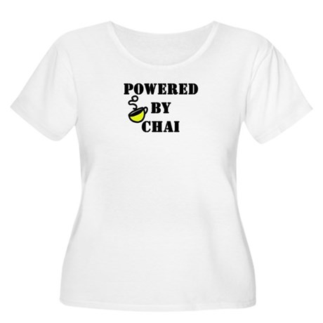 Powered by Chai: Women's Plus Size Scoop Neck T-Sh
