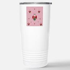 colorful lady bugs - pi Travel Mug