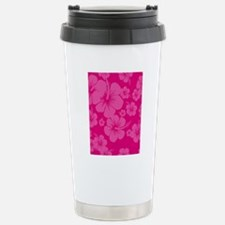 Pink Hibiscus Hawaii Pr Stainless Steel Travel Mug