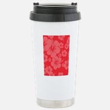 Red Hibiscus Hawaii Pri Stainless Steel Travel Mug