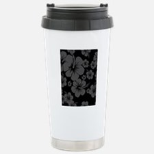 Black Hibiscus Hawaii P Stainless Steel Travel Mug