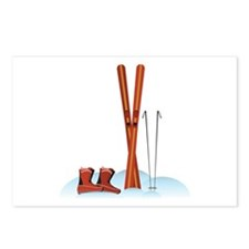 Ski Gear Postcards (Package of 8)