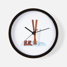 Ski Gear Wall Clock
