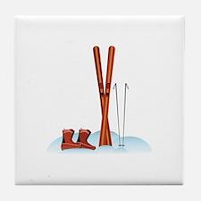 Ski Gear Tile Coaster