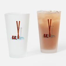 Ski Gear Drinking Glass