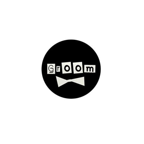The Groom(black) Mini Button