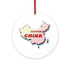 China Map Ornament (Round)