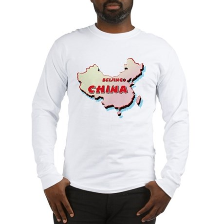 China Map Long Sleeve T-Shirt