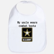 My Uncle Wears Combat Boots Army Bib
