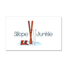 Slope Junkie Car Magnet 20 x 12