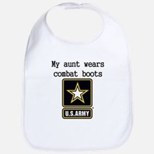 My Aunt Wears Combat Boots Army Bib