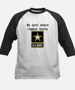 My Aunt Wears Combat Boots Army Baseball Jersey