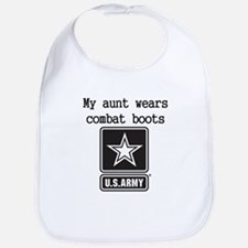 My Aunt Wears Combat Boots Army Bib