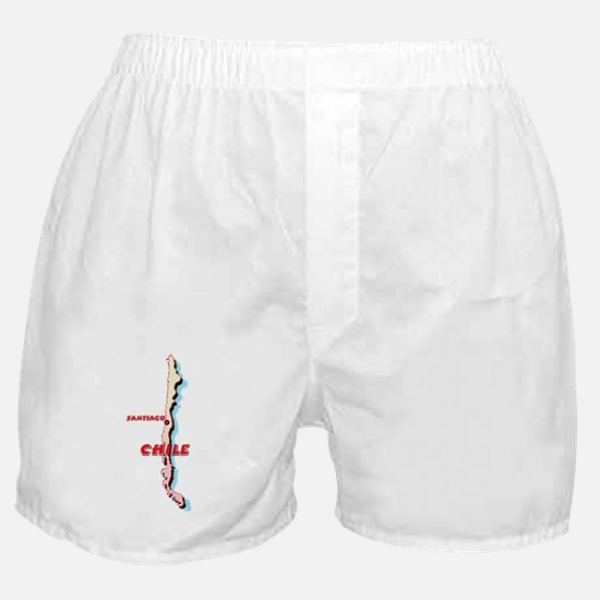 Chile Map Boxer Shorts