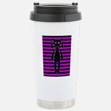 Goth Pink and Black Bun Stainless Steel Travel Mug