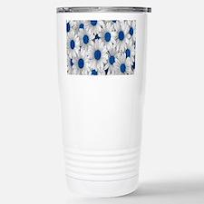 English Daisies Blue Travel Mug