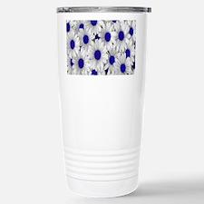 English Daisies Purple Travel Mug
